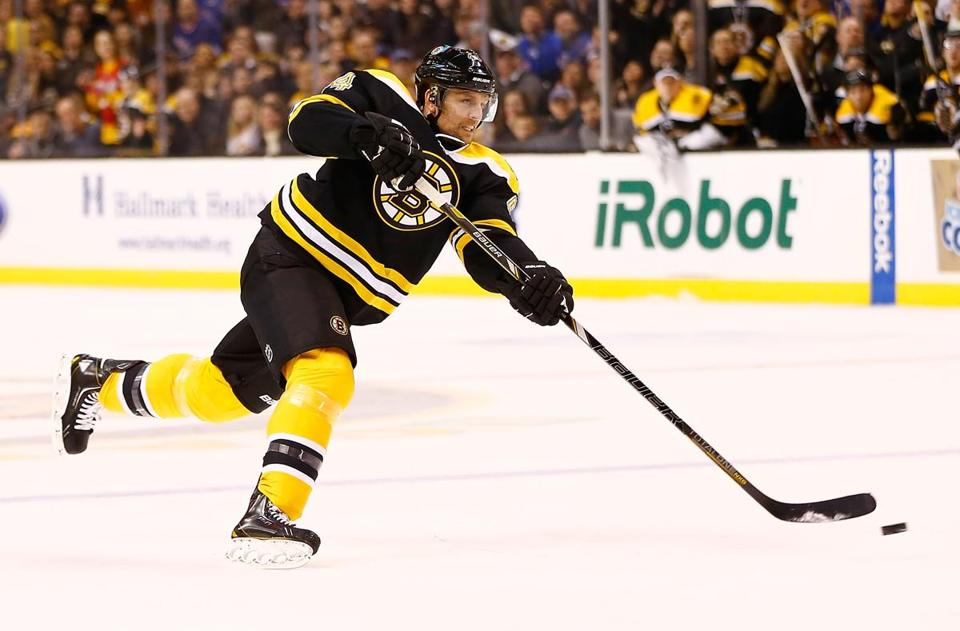 Because of Dennis Seidenberg's absence, the Bruins shuffled two of their top three defensive pairings.