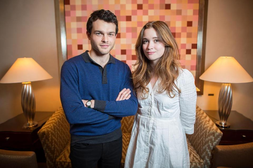 "Alden Ehrenreich and Alice Englert stopped at the Ritz-Carlton Boston on their ""Beautiful Creatures"" tour."