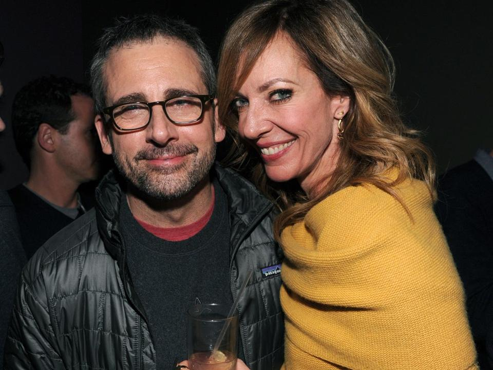 Steve Carell and Allison Janney at the Sundance Film Festival in Park City, Utah.