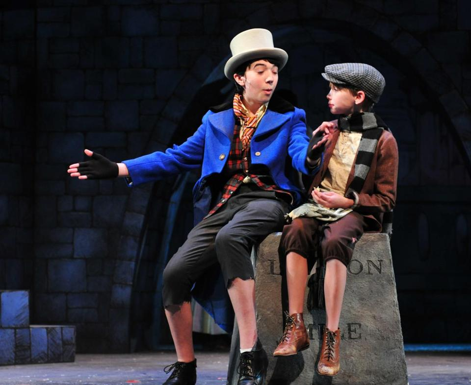 """Oliver!"" stars Jeffrey Sewell (left) as the Artful Dodger and Charlie Clinton as Oliver Twist."