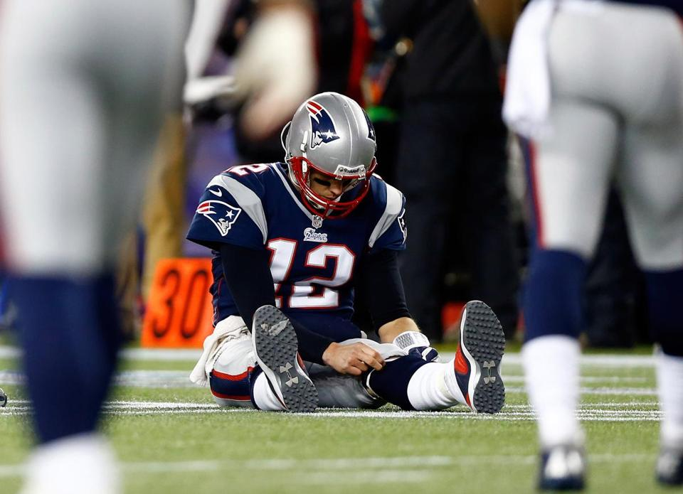 Tom Brady's loss to the Ravens in the AFC title game left him without a Super Bowl title for the eighth straight year.