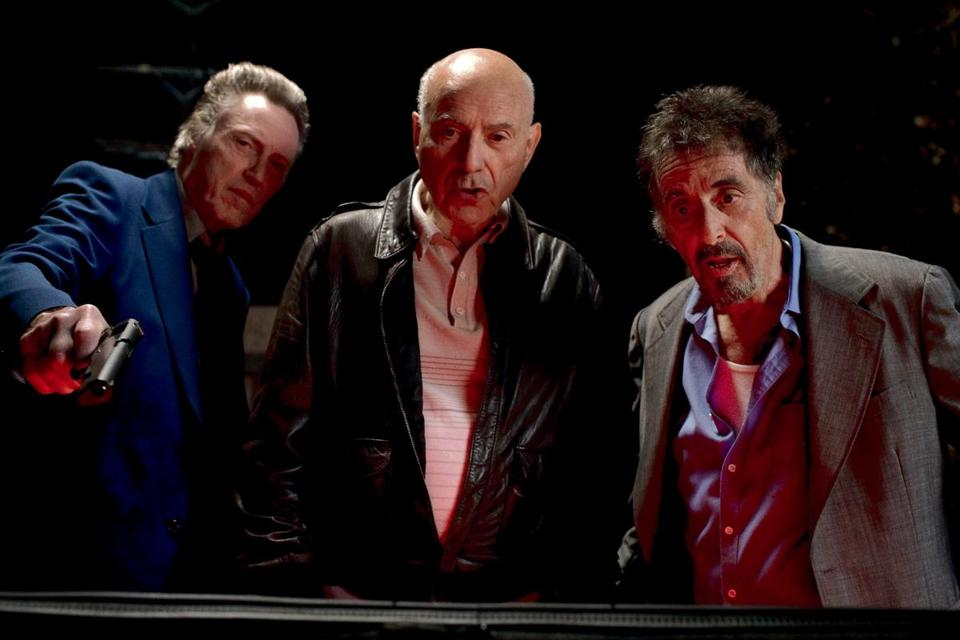 "From left: Christopher Walken, Alan Arkin, and Al Pacino in a scene from ""Stand Up Guys."""
