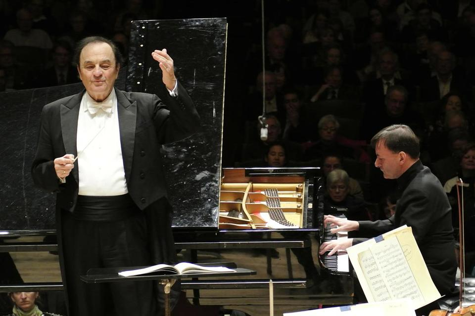 Charles Dutoit conducted the Boston Symphony Orchestra and pianist Stephen Hough Thursday night.