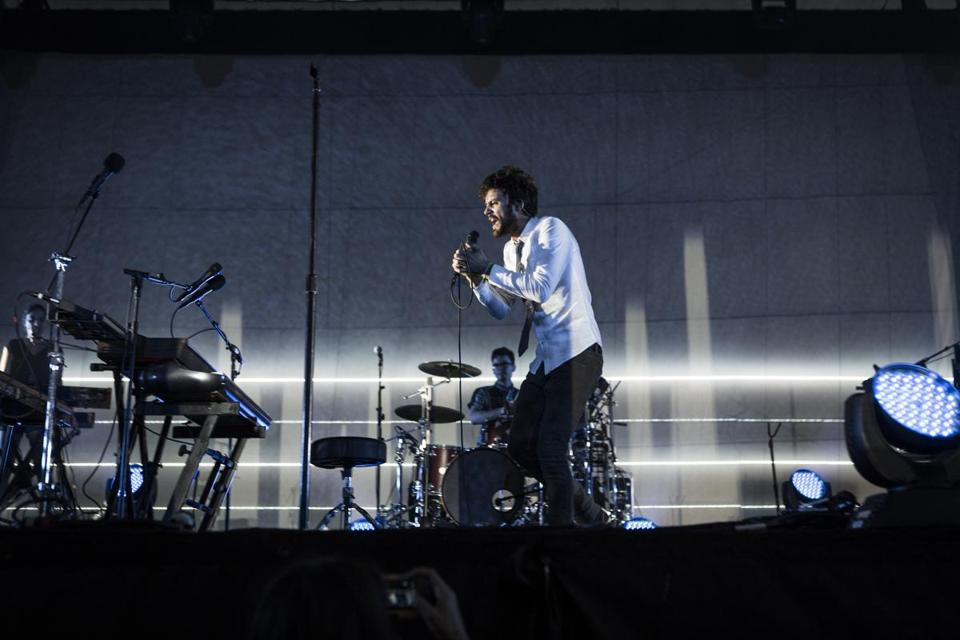 Michael Angelakos of Passion Pit performed during the 2012 Governors Ball Music Festival.