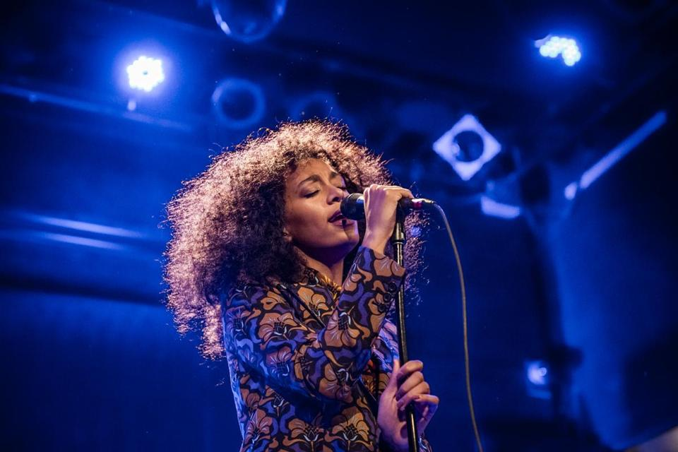 Solange, here performing to a sold-out crowd in New York in December, plays the Paradise Feb. 19.