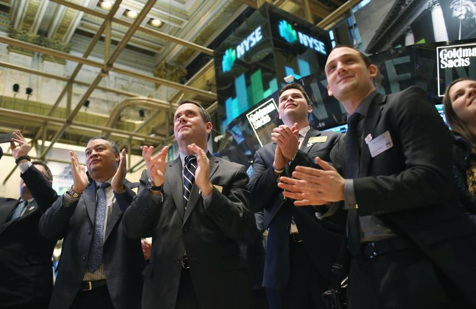 Applause greeted the closing bell at the New York Stock Exchange Thursday. Less than four weeks into the year, stocks already are up 5 percent.