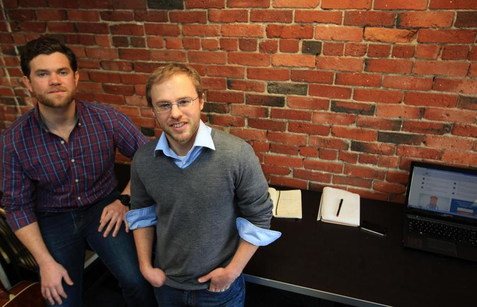 Enmojo, an Internet start-up founded by Robert Lawless (left) and Chris Buchanan, helps homeowners compare energy project costs.