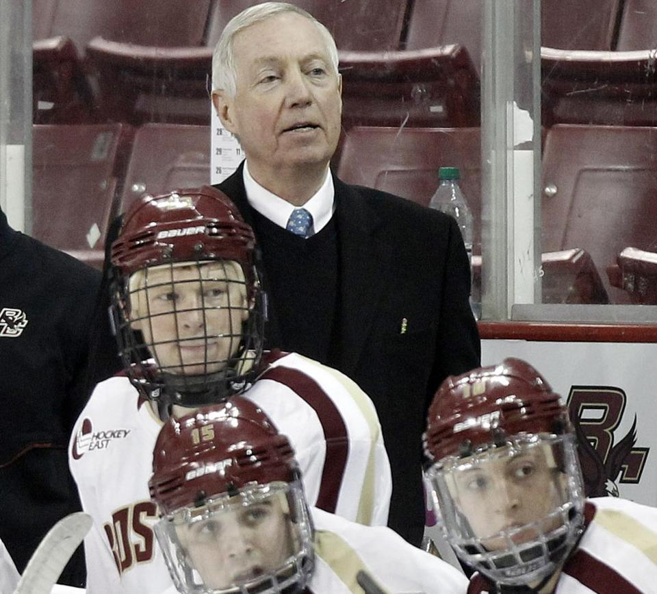 Coach Jerry York was back behind the BC bench after missing four games because of a detached retina.