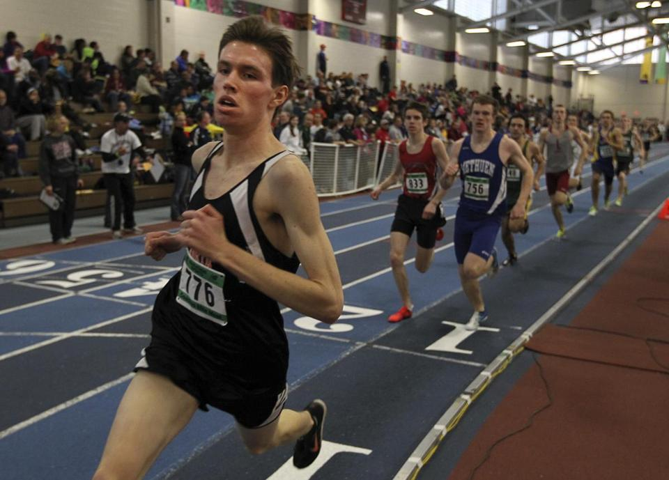Newton North's Gabe Montague is on his way to a fourth-place finish in the 1,000.