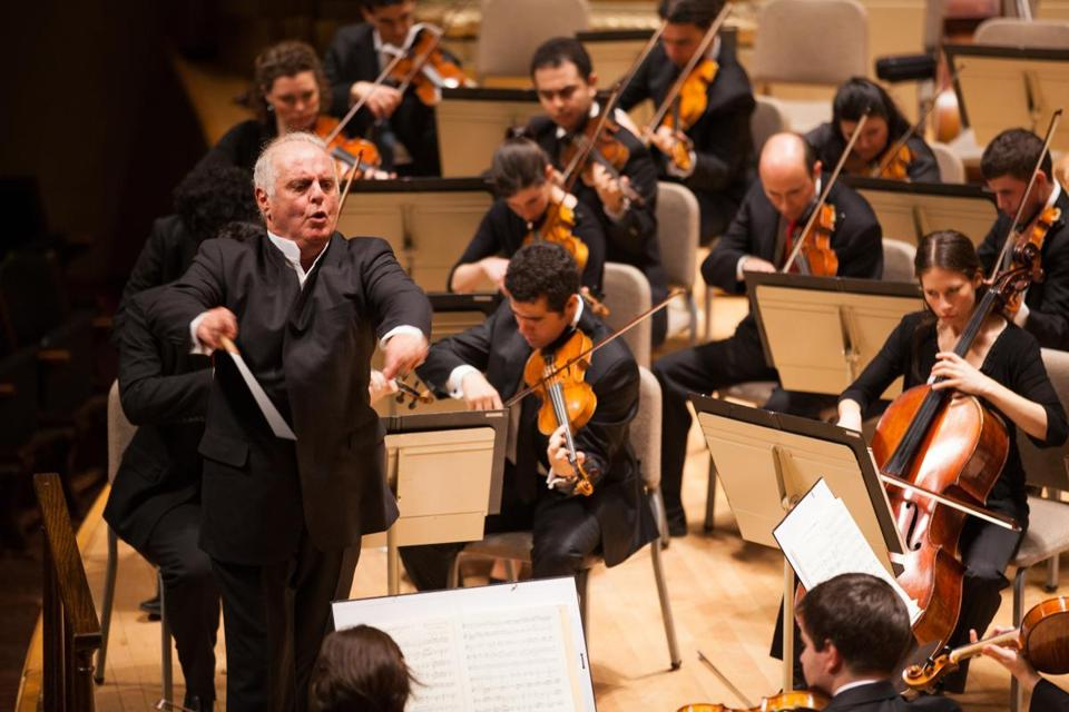Daniel Barenboim leads the West-Eastern Divan Orchestra in its local debut Sunday at Symphony Hall.