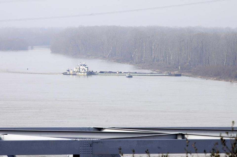 The Mississippi River was closed to traffic north and south.