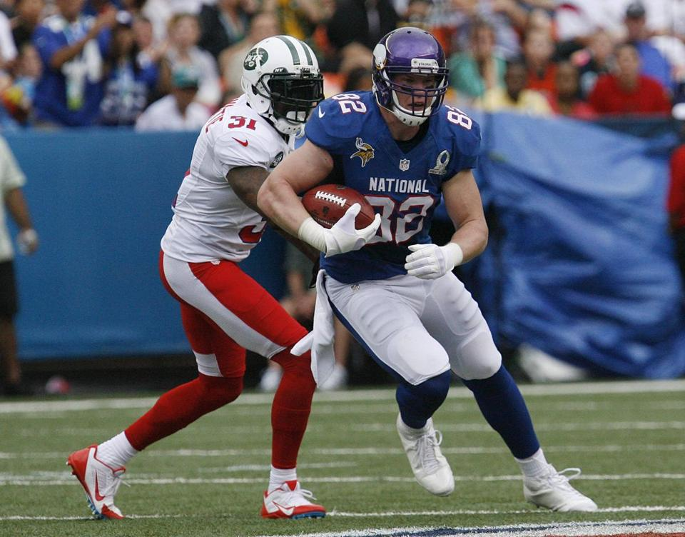 Minnesota tight end Kyle Rudolph was voted the game's MVP with five catches for 122 yards and a touchdown.