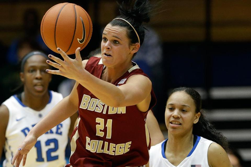 Kristen Doherty (21) led Boston College with 14 points, but the Eagles managed to shoot just 25 percent from behind the 3-point line (6 of 24) in their loss to Duke.