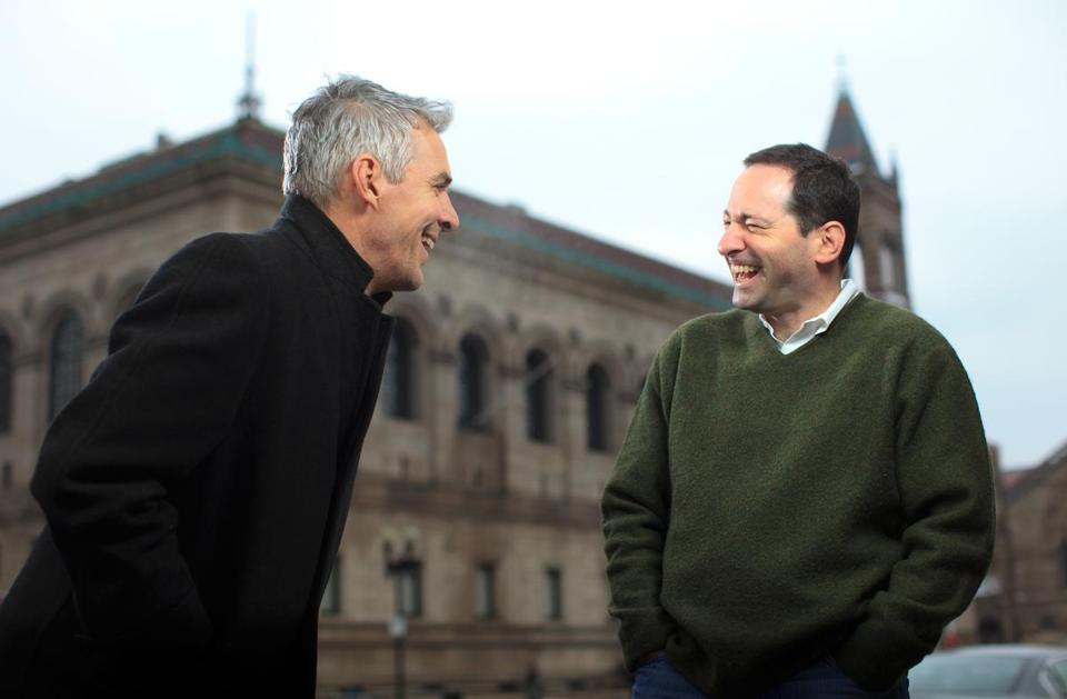 John Kenney (left) and Bill Landay grew up together and both have become successful authors.