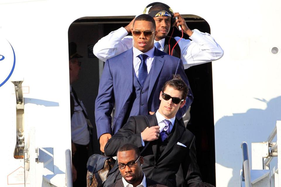 The Ravens dressed in their Sunday best for the trip to New Orleans. They hope to be at their best when Sunday arrives.