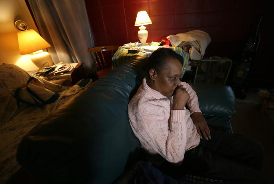 Wilhemina Melrose, who is blind, spends more time in her Columbus Avenue apartment in Roxbury, and uses The Ride less, since one-way fares for the service were increased to $4 from $2.