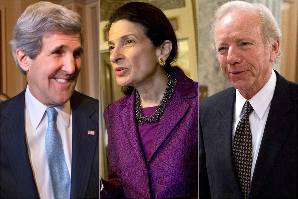 John Kerry was confirmed as secretary of state on Tuesday, while Olympia Snowe and Joe Liberman retired.