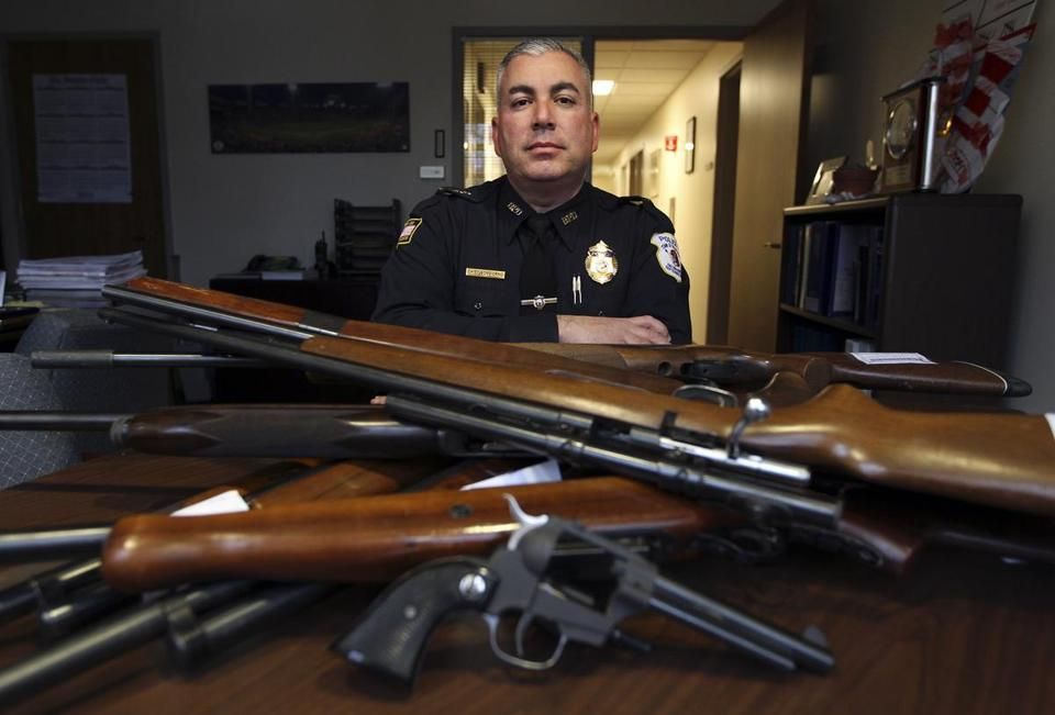 'Unwanted firearms are a hazard in any home. They can be stolen. They can be used in an accident or a suicide.' -  ROBERT BONGIORNO, Bedford police chief