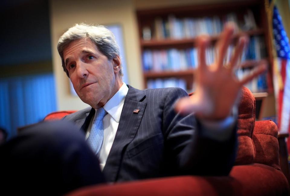 """Over the years I learned this really is just all about people,'' a reflective Senator John Kerry said Thursday."