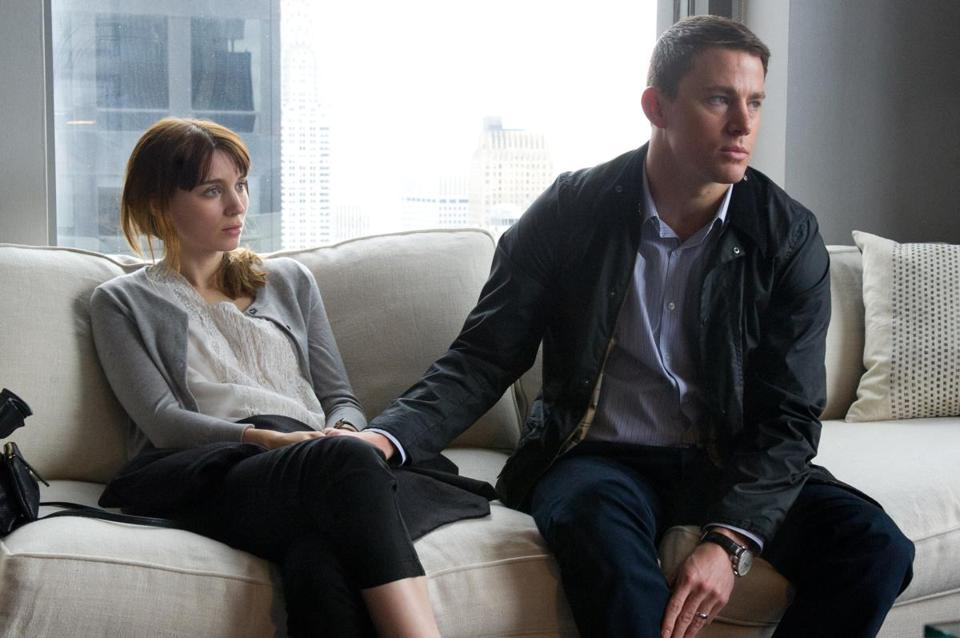 "Rooney Mara and Channing Tatum as a troubled married couple in Steven Soderbergh's ""Side Effects."""