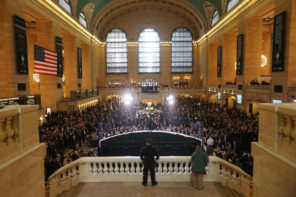 Grand Central Terminal was packed Friday as New York celebrated the 100th birthday of the transportation icon.
