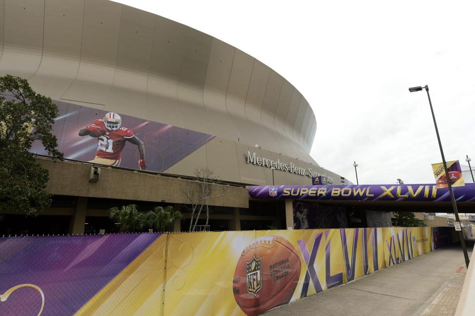 The Superdome is hosting the Super Bowl for the first time since 2002.