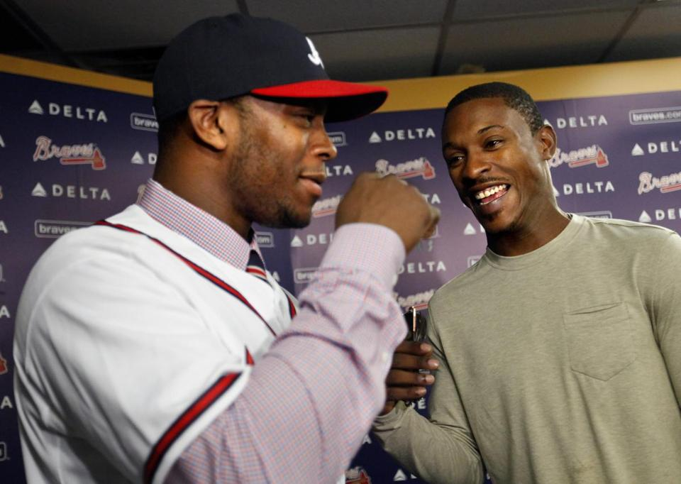 Justin Upton, left, and B.J, Upton will be teaming up in Atlanta.