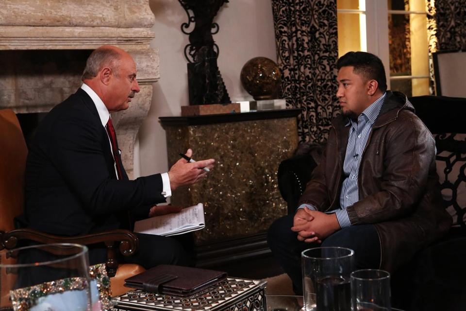 Dr. Phil McGraw interviews Ronaiah Tuiasosopo during a two-part interview that will conclude on CBS on Friday.