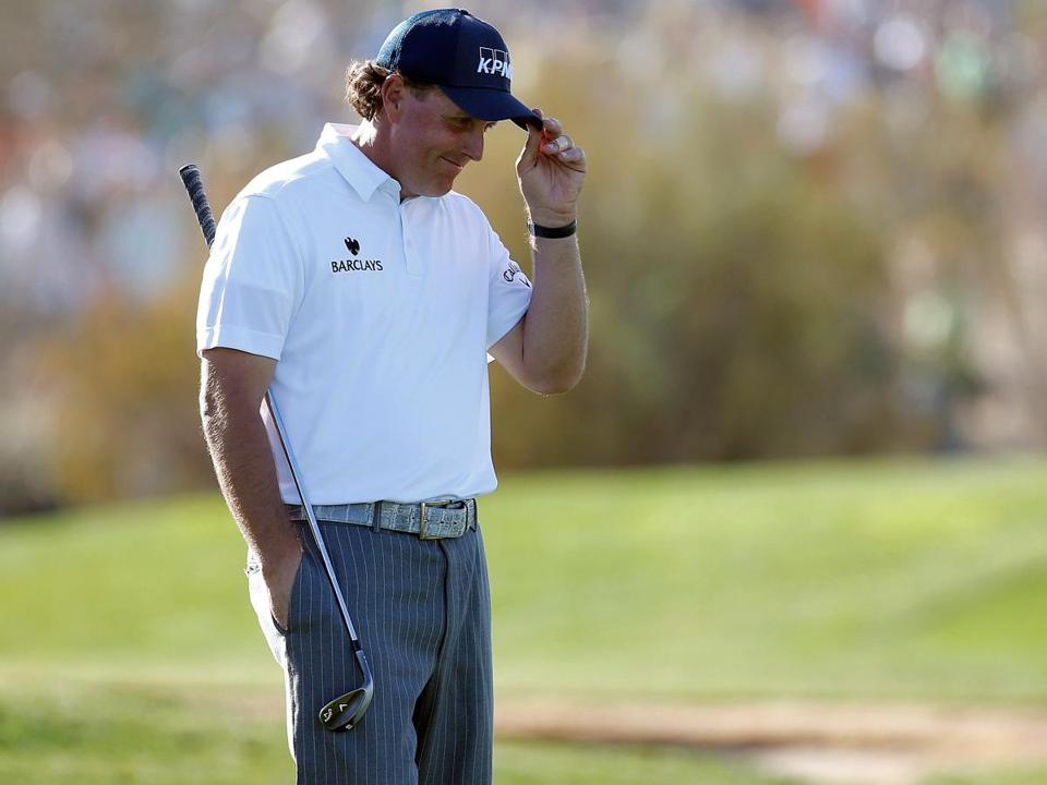 Phil Mickelson, who played at Arizona State, was the object of fans' affections on the 17th green at the Phoenix Open.