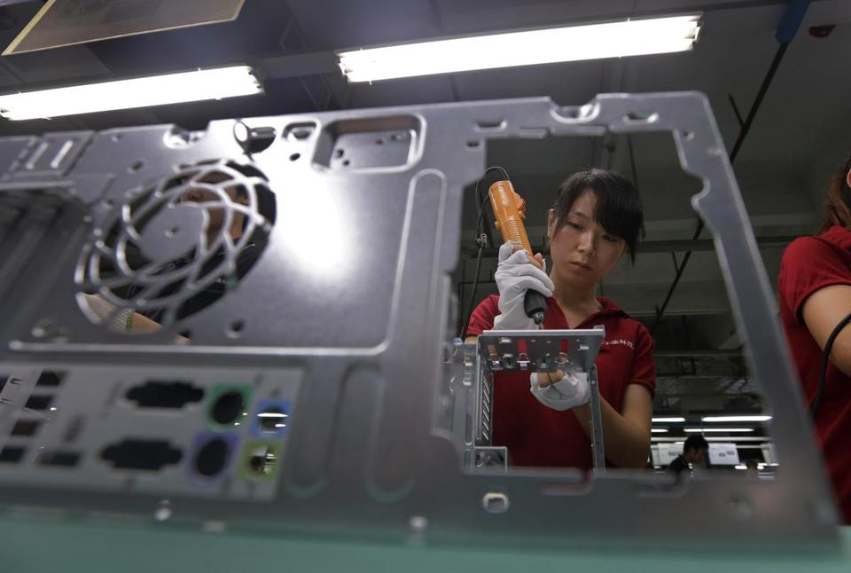 A Foxconn factory employee. Foxconn has came under heavy scrutiny for its labor policies.