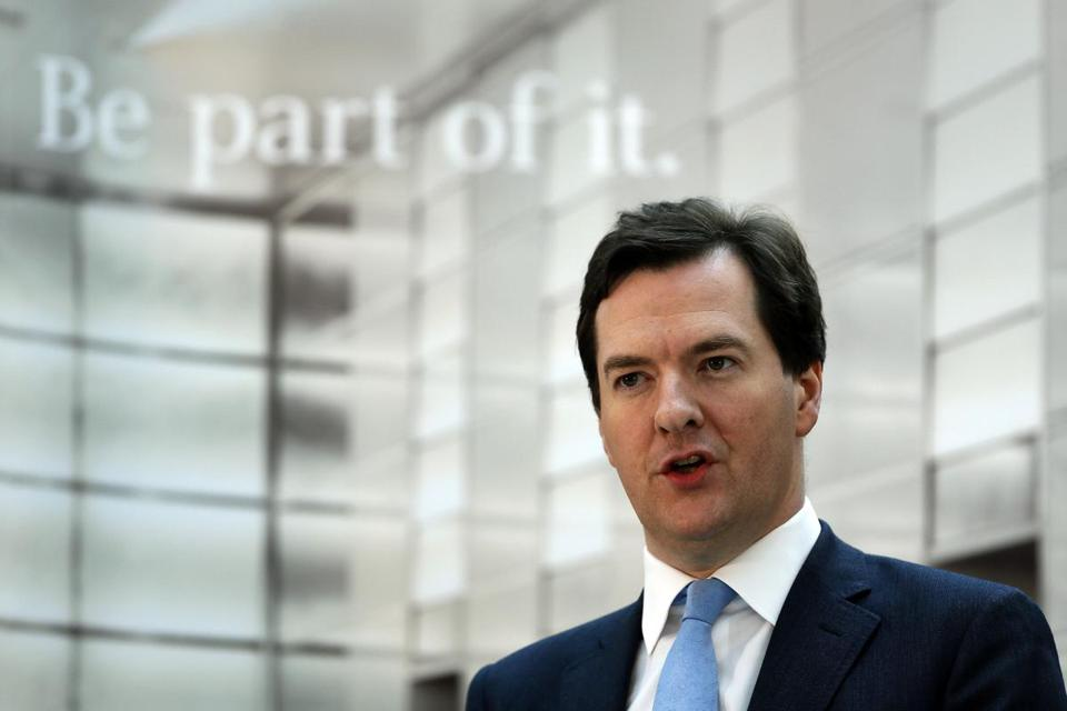 Britain's chancellor of the exchequer, George Osborne, says banks are not meeting the needs of small businesses.