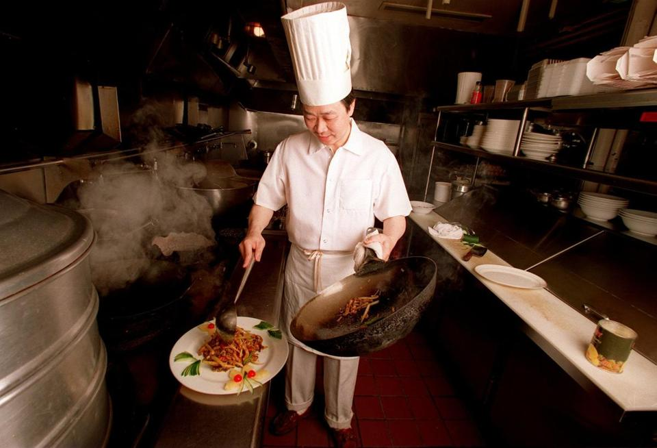 Chef CK Sau serves up Chinese cuisine at his CK' Shanghai restaurant in Wellesley. He worked at the former Sally Ling's.