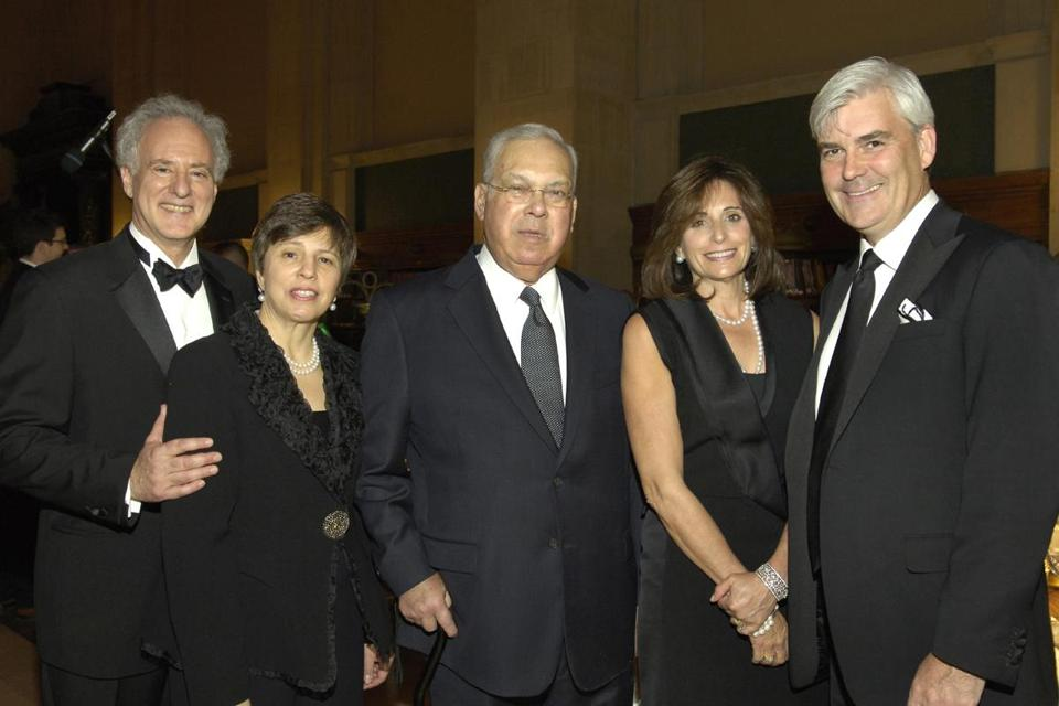 From left: Alan and Sherry Leventhal, Mayor Tom Menino, and Stephanie and David Long.