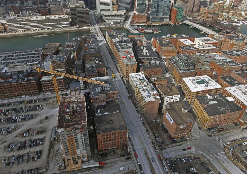 The office space crunch in Boston has spurred construction of commercial buildings.