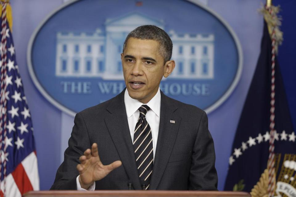 President Obama said that continuing budget clashes in Congress could hurt the economy's recovery.