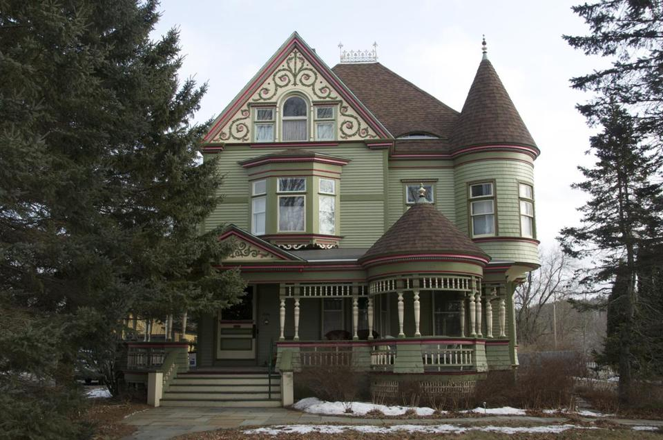 The Estabrook House bed and breakfast is an 1896 Queen Anne Victorian on Main Street.