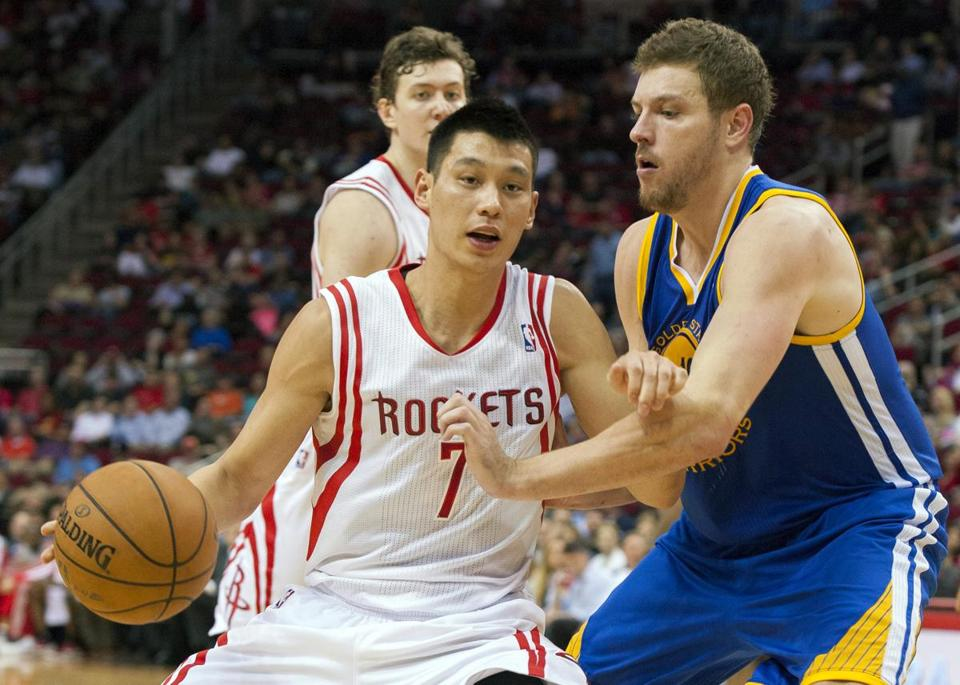 The Rockets' Jeremy Lin sank a career-high five 3-pointers against Golden State.