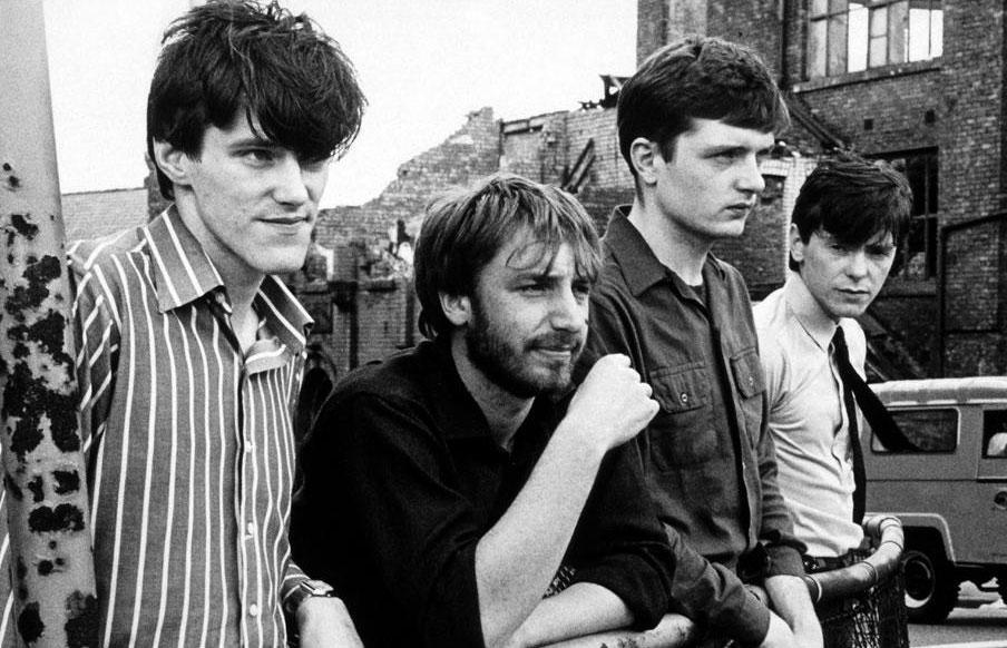 The members of Joy Division (from left): Stephen Morris, Peter Hook, Ian Curtis, and Bernard Sumner