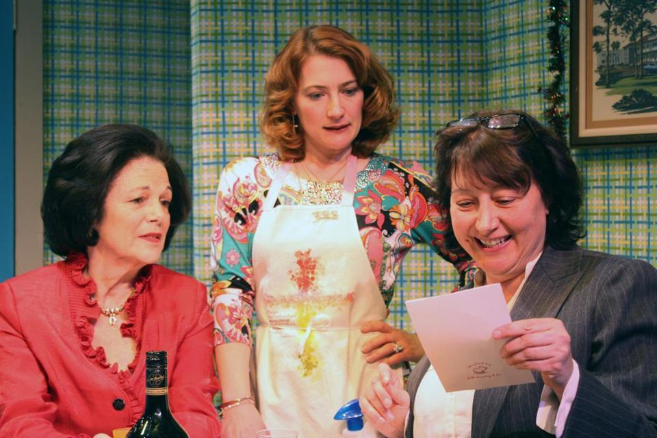 "From left: Kippy Goldfarb, Jen Alison Lewis, and Adrianne Krstansky in the Boston Playwrights' Theatre's production of ""Legally Dead.''"