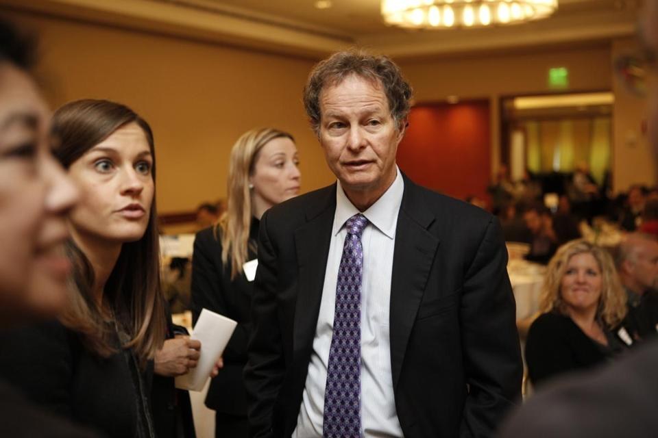Whole Foods cochief executive John Mackey spoke at the Greater Boston Chamber of Commerce breakfast.