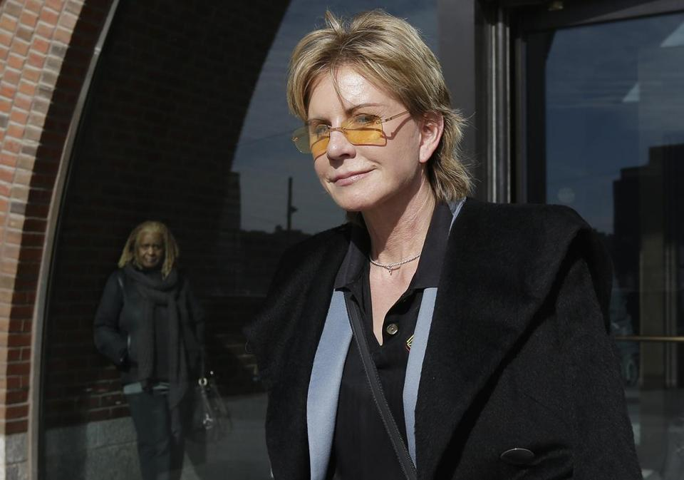Patricia Cornwell after her day on the stand in federal court.