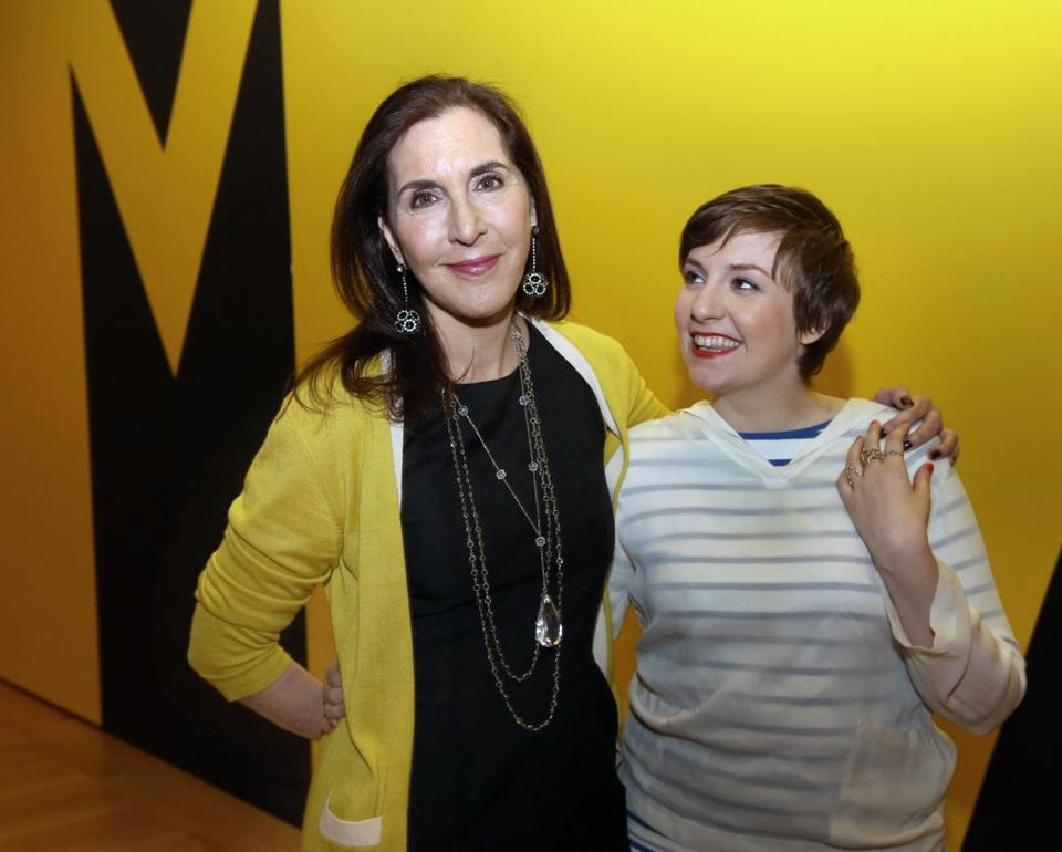 "MOVIEMAKERS: Artist and filmmaker Laurie Simmons with daughter and ""Girls"" creator Lena Dunham at their screening and lecture at the Museum of Fine Arts in Boston on February 6."