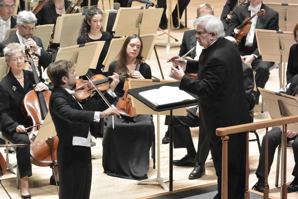 Guest conductor Christoph von Dohnanyi led the Boston Symphony Orchestra and French violinist Renaud Capucon on Thursday night.