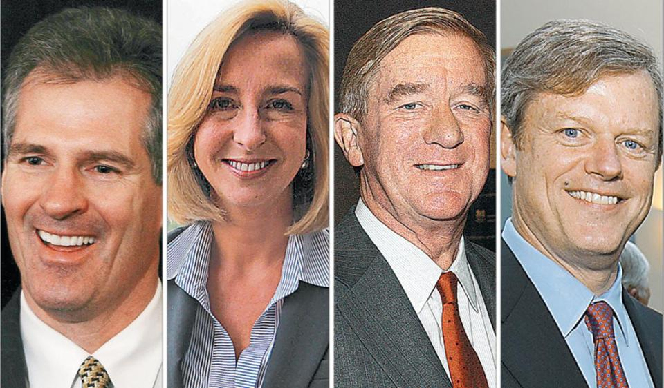 From left to right: Scott Brown, Kerry Healey, William Weld, and Charles Baker.
