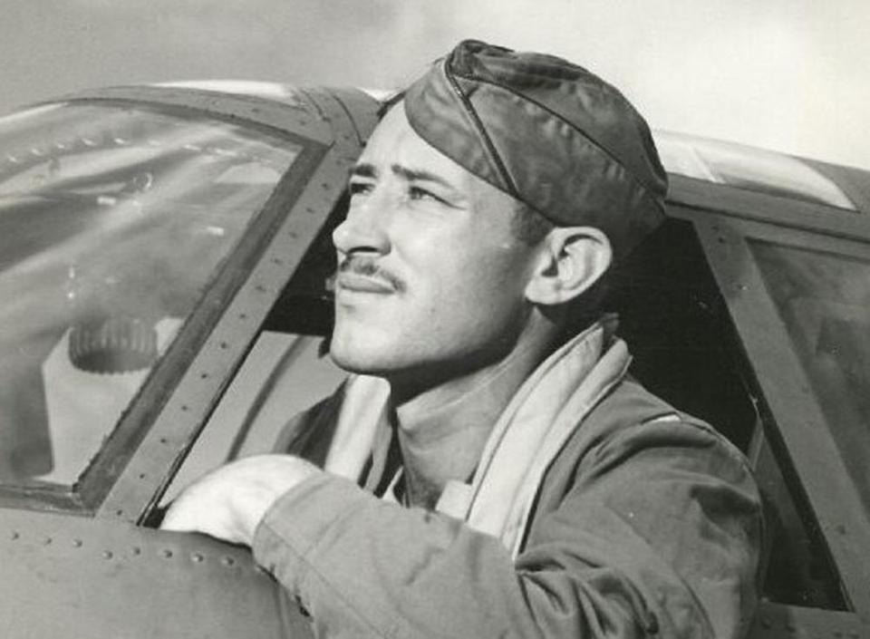 Mr. Muri's return to his base on Midway Island was dogged by Zero fighter planes.