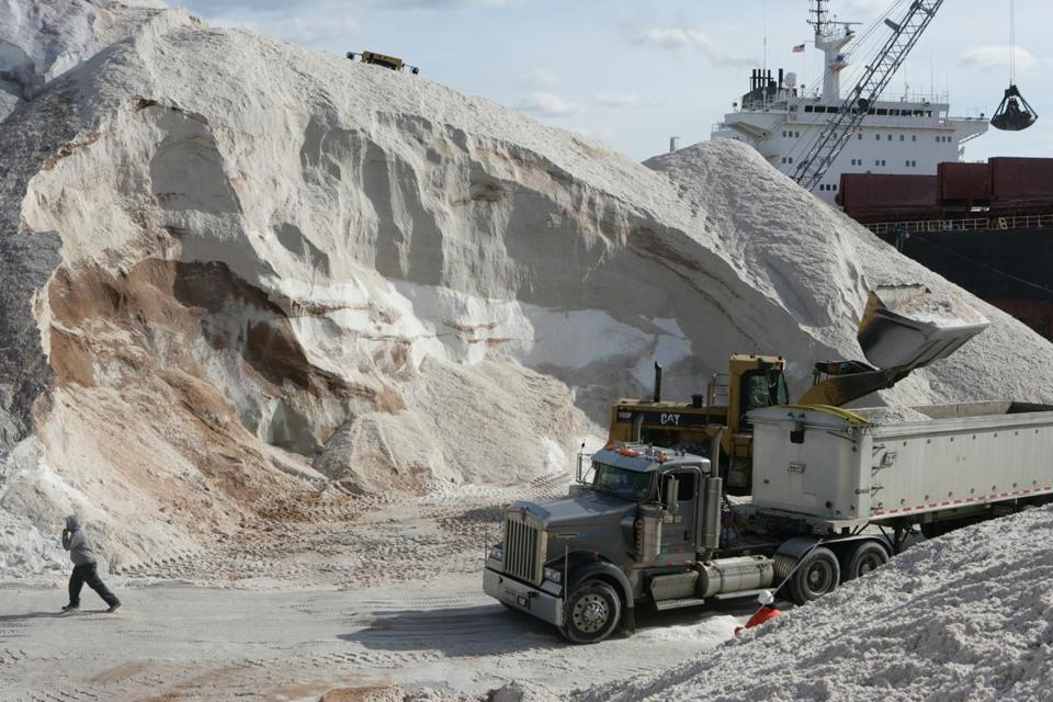 The Eastern Minerals salt dock spans six acres along Chelsea Creek.