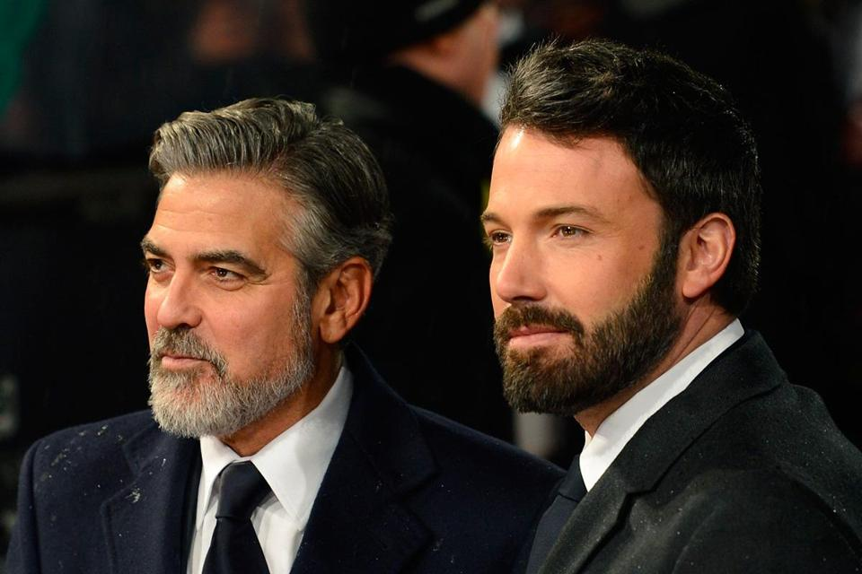 George Clooney (left) and Ben Affleck in London.