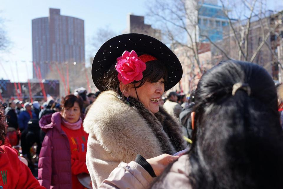 People celebrated the arrival of the Lunar New Year on Sunday in New York's Chinatown.