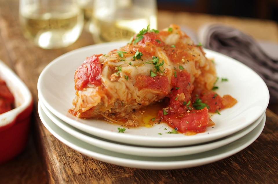 Lisa Zwirn's recipe for stuffed cabbage rolls with beef and rice (Karoline Boehm Goodnick)