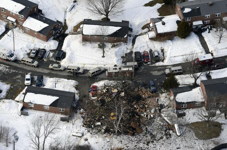 Authorities think a propane tank was the source of the explosion at a duplex in Bath, Maine. The identity and gender of the body found in the rubble were unconfirmed.